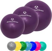 #DoYourFitness - 3x Mini Pilates Bal - »Balle« - Gymnastiekbal: Effectieve training voor spierspijn - 18cm + 23cm + 28cm - violet