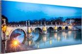Verlichte brug in Rome Aluminium 120x80 cm - Foto print op Aluminium (metaal wanddecoratie)