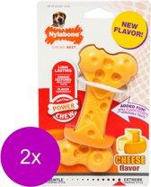Nylabone Durachew Cheese Bone Geel - Hondenspeelgoed - 2 x Wolf Tot 15kg