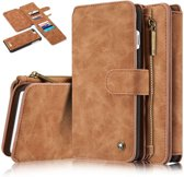 Caseme luxe portemonnee hoes iPhone 7 Plus / 8 Plus bruin
