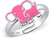 Princess by Montebello, zilveren olifant kinderring, Adamina