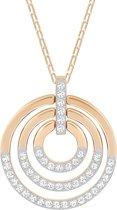 Swarovski Ketting 'Circle' Medium White-Rosegold 5349193