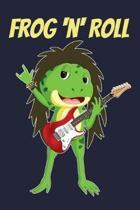 Frog N Roll: Blank Sheet Music Notebook Guitar Rock 'N' Roll Songwriting