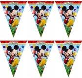 2x Mickey Mouse vlaggenlijnen 2,3 meter - Slingers/vlaggenlijnen