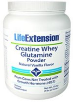 Whey Creatine Glutamine Poeder (Vanille) (454 Gram) - Life Extension