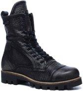 Yellow cab antraciet leren boots  - Maat 36