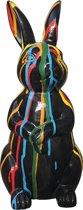 Vrolijke Beelden Konijn - 14x30 Cm - Zwart
