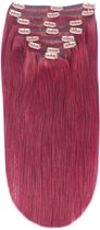 Remy Human Hair extensions Double Weft straight 16 - rood 530#