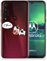 Motorola Moto G8 Plus Telefoonhoesje met Naam Cow