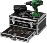Hitachi Hikoki accuboormachine  - DS18DJL in aluminium koffer inclusief 100-delige bit-boren-doppen