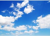 """Fotobehang """"Blauwe lucht met wolken"""" vliesbehang 300x210cm"""