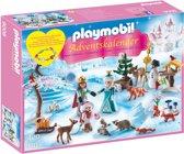 PLAYMOBIL Adventskalender Koninklijk schaatsfeest - 9008