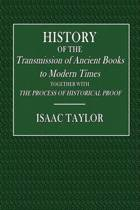 History of the Transmission of Ancient Books to Modern Times