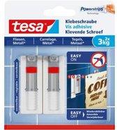 Tesa - 77765 - verstelbare klevende schroef - voor metaal en tegels - 2 stuks