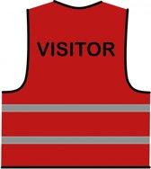 Veiligheidshesje rood 'Visitor'