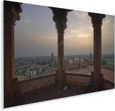 Foto vanuit een Moskee van Lahore Plexiglas 30x20 cm - klein - Foto print op Glas (Plexiglas wanddecoratie)