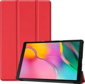 Samsung Galaxy Tab A 10.1 (2019) Hoes Book Case Hoesje Cover – Rood