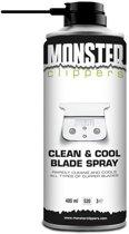Monster Clippers Clean & Cool Blade Spray 400ml - voor Tondeuse en Trimmer Onderhoud