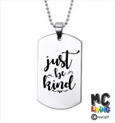 Ketting RVS - Just Be kind