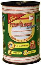 Ako Topline Lint Wit/rood 10mm 200mtr