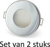 Dimbare Phillips 5W GU10 Badkamer inbouwspots Zilver rond | Extra warm wit (Set van 2 stuks)