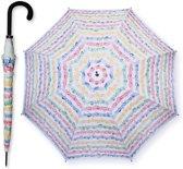 Paraplu Bladmuziek Wit met gekleurde opdruk