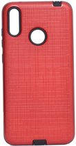 Teleplus Samsung Galaxy M20 Youyou Silicone Case Red + Nano Screen Protector hoesje