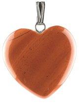 Hart hanger rode Jaspis - edelsteenhanger