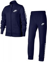 Nike Girls NSW Tracksuit Tricot Trainingspak Kinderen - Navy/Wit