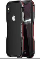 iPhone 7 Plus / 8 Plus - metalen bumper - zwart / rood