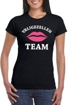 Vrijgezellenfeest Team t-shirt zwart dames XS