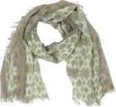 Sjaal Beige Gevlekt 90 x 180 cm
