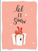 DesignClaud Kerstposter Let it snow - Kerstdecoratie Kleurrijk A3 poster (29,7x42 cm)