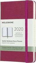 Moleskine 12 Maanden Agenda 2020 - Wekelijks - Pocket (9x14 cm) - Snappy Pink - Harde Kaft