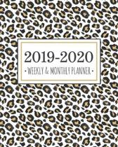 2019-2020 Weekly & Monthly Planner: Diary Agenda Calendar Schedule Organizer - Tan Leopard Cheetah Print - Sept 2019 through December 2020