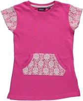 Blue Seven Meisjes Tuniek Jurkje Roze met kant - 721521  - Maat 110
