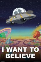 Rick and Morty-poster-I Want To Believe-Ufo-Extra Large-100x140cm.