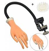 Nail Trainer Hand Met Nagelbedjes Nageltips - Oefenhand Voor Gelnagels / Acrylnagels Kunstnagel Nagel Tips