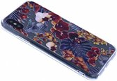 iPhone X / Xs 3D Bloemen Design Back Cover Hoesje