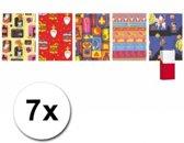 7 rollen Sinterklaas kadopapier 200 x 70 cm - inpakpapier / cadeaupapier
