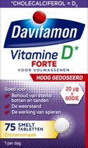 Davitamon Vitamine D3 - Supplement - Forte Smelttablet 75 stuks - Voedingssupplement