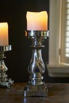 Riviera Maison - Villandre Candle Holder L - Kandelaar - Zilver - Glas