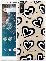 Xiaomi Mi A2 Hoesje Watercolor Hearts