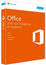 Microsoft Office 2016 - Home & Student - Windows - Nederlandstalig (code in doosje)