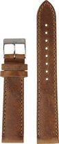 Renard Silver Amber R20S1AMB - Horlogeband - Leer - Bruin - 20 mm