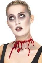 Halloween - Rood litteken rondom nek