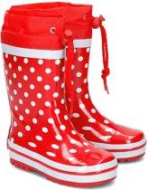 Playshoes Regenlaarzen Kinderen - Rood met Witte Stippen - Maat 24/25