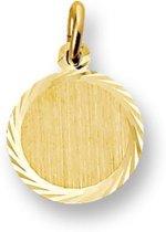 Trendjuwelier huiscollectie 4013224 Gouden graveerplaat rond