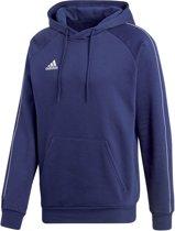 adidas Core 18 Hooded  Sporttrui casual - Maat L  - Mannen - blauw