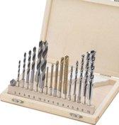 Westfalia Boorset, 17 stuks, houten box